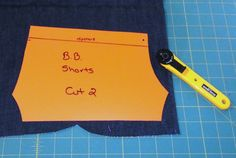 Tip: Make plastic templates for your most frequently used doll clothes patterns.