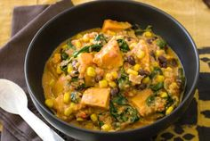 Gluten Free African Stew Recipe | Simply Gluten Free (This was so delicious, I did serve it over rice.  You can find SunButter at Target)