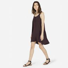 Everlane $88 Silk Tank Dress in Burgundy (It has POCKETS!!!) (My new favorite)