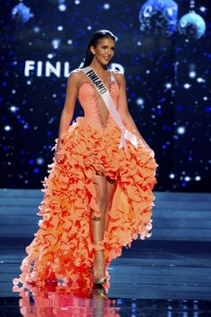 Miss Finland  Miss Universe 2012: Contestants Look Stunning in Colourful Evening Gowns [SLIDESHOW] - Entertainment & Stars