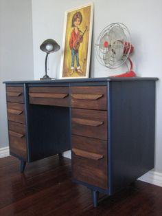 wood and blue desk | european paint finishes euro refinished antique furniture phoenix az ...                                                                                                                                                                                 More