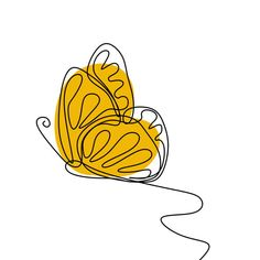 Butterfly One Continuous Line Drawing Element Isolated On White Background For Logo Or Decorative Element Vector Illustration Of Insect Form In Trendy Outline Style Vector and PNG Outline Art, Outline Drawings, Continuous Line Drawing, Abstract Line Art, Abstract Logo, Vector Art, Vector File, Vector Graphics, Logo Restaurant