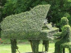 The Piano Man Topiary