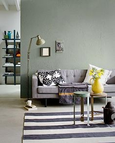 love the grey/green color combo with the hit of yellow