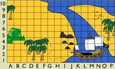 A fun pirate themed coordinates maths game. Read the coordinates to lead you to the treasure.