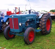 Hanomag R45 Tractor. Wow, I never knew Hanomag even made farm tractors this long ago untill I saw this picture. I had even forgotten about the name in general..