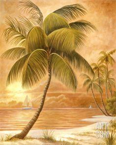 Island Palm III Art Print at Art.com