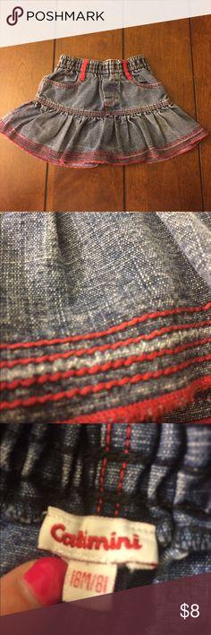Catimini denim skirt Size 18m catimini denim skirt. Some wear. Catimini Bottoms Skirts