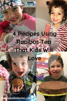 Recipe ideas using rooibos tea that are delicious and kid-friendly.  Rooibos tea is a South African caffeine-free and herbal tea that can be used in a variety of recipes.