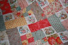 I have sold this quilt but would love to make another one in the same fabrics for you. Please allow two weeks for the quilt to be made up and shipped. You are welcome to convo me if you have any special requests.    Beautiful shabby chic patchwork baby quilt featuring your favourite Beatrix Potter characters - Peter Rabbit, Tom Kitten, Jemima Puddleduck, Mrs Rabbit, Benjamin Bunny, Pigling Bland and more, all featured with the beautiful cottage chic fabric range called Oasis by Three Sisters…