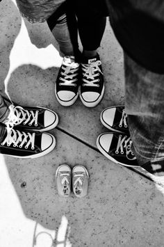 Rockin our chucks for our family photo... #maternity #pregnancy #converse