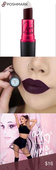 MAC Ariana Grande Viva La Glam Matte Lipstick 100% Authentic MAC Ariana Grande Matte Lipstick in Viva La Glam! Dark purple burgundy maroon color in a Matte finish. Used twice, sanitized completely! MAC Cosmetics Makeup Lipstick