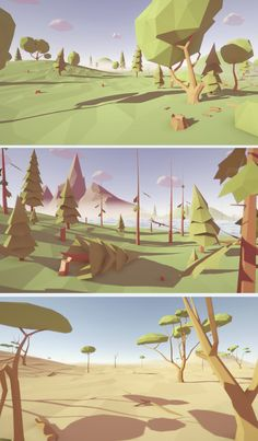 Low Poly Trees - Pack This package contains a huge variety of different trees ready to use for your game levels. Just drag and drop prefabs to your scene and achieve beautiful results in no time. PC & mobile friendly assets. 446 unique Low Poly Tree Prefabs: - 45 Acacia Trees - 51 Apple Trees - 40 Birch Trees - 18 Dead Trees - 29 Fir Trees - 39 Oak Trees - 54 Palm Trees - 61 Pine Trees - 43 Random Trees - 30 Simple Trees - 36 Thuja Tress