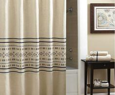 "Croscill Shower Curtain, Cheyenne Blue, 72""L x 70""W,  Country, Rustic, Aztec #Croscill #Lodge"
