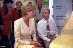 27 June 1996 Princess Diana Meets Patient, Gary Alrdridge, At The Mortimer…