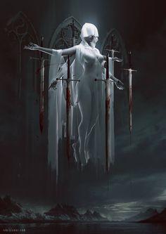 Vampire Art by Ian Elanas Dark Fantasy Art, Fantasy Kunst, Fantasy Artwork, Fantasy World, Dark Art, Fantasy Queen, Fantasy Inspiration, Character Inspiration, Character Art