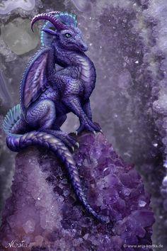 Amethyst Dragon by ArkaEdri