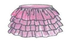 coser falda de volantes de tul - talla 6