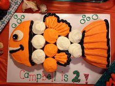 Nemo cupcake cake - www.facebook.com/blovestobake