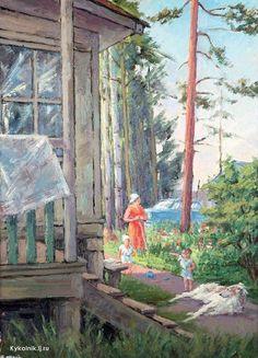 Жаренов Александр Сергеевич (Россия, 1907–1985) «Красная пахра» 1961