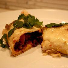 Enchiladas aux haricots noirs