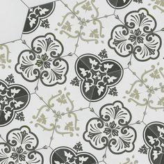 "EliteTile Fantazio Mix Hexagon 9.88"" x 8.63"" Porcelain Field Tile in White/Black"