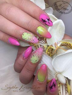 #tropicalnails #pixie #ombre