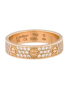 Cartier Pave mini Love ring.