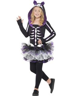 Skelly Cat Costume at funnfrolic.co.uk - £22.79
