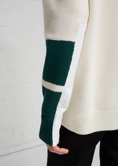 Cut Out Crew Neck Knit