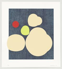 """Sarah Crowner. Untitled (Spotlights), A. 2013. Lithograph and screenprint. composition: 29 3/4 x 27 5/16"""" (75.5 x 69.4 cm); sheet: 38 3/8 x 34 3/16"""" (97.4 x 86.8 cm). Highpoint Editions, Minneapolis. Highpoint Editions, Minneapolis. 18. Committee on Prints and Illustrated Books Fund. 48.2014.1. © 2016 Sarah Crowner. Untitled (Spotlights). Drawings and Prints"""
