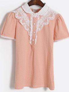 Polka Dots Collared Blouse from Dolly Dynamite