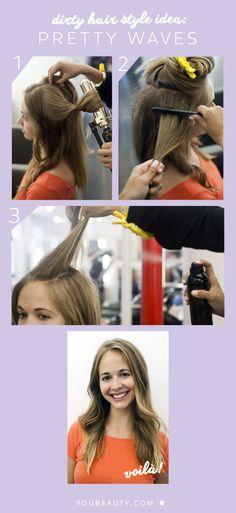 Dirty Hair Style Idea: Pretty Waves