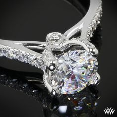 Head over heels ♥ Platinum Verragio 4 Prong Pave Diamond Engagement Ring, Couture Collection