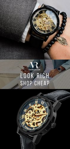 The Gatsby gives you a timepiece with a high-end look & feel that will always keep you on point in an exquisite way. It has a matte black brushed case and a black genuine leather band & is ideal to be worn as either a casual lifestyle piece or in a formal setting. To complete the look, match with a black & gold Vodrich bracelet. Click the Buy button to make it yours!