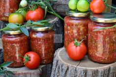 Canning Recipes, Salad Recipes, Good Food, Yummy Food, Romanian Food, Ratatouille, I Foods, Conservation, Preserves