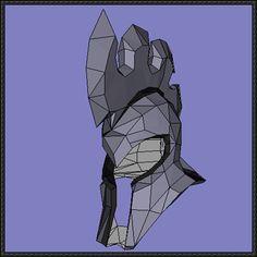 League of Legends - Pantheon Helmet Free Papercraft Download - http://www.papercraftsquare.com/league-legends-pantheon-helmet-free-papercraft-download.html