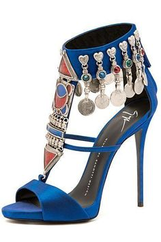 Giuseppe Zanotti Blue #Sandal Spring 2015 #Shoes #Heels