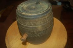 VTG USA McCoy Pottery Small Barrel Farm Ranch Western Cowboy Decor bookend #McCoy #VINTAGE