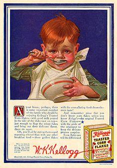 Illustration for Kelloggs cereal, Joseph Christian Leyendecker, 1915.