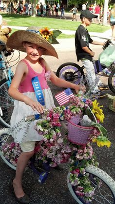 21 best parade bike decorating images on Pinterest   Bicycle  Bike     Kiddie Parade  Bike Decorating Ideas   Flower Power
