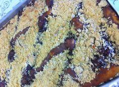 Cuca de amendoim com ganache de chocolate (Foto: Rejane Gambin/RBS TV)