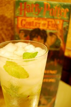 Neville Longbottom  Ingredients:  1 ½ oz white rum  ½ oz lime juice  2/3 cup green tea  Splash of club soda  6 large mint leaves  1 teaspoon sugar  Directions:  Muddle the mint, sugar and lime juice together in a Collins glass  Add ice until glass and then pour in rum and green tea.  Stir thoroughly.