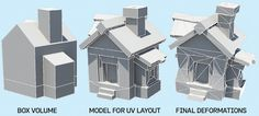 Make low-poly buildings for games