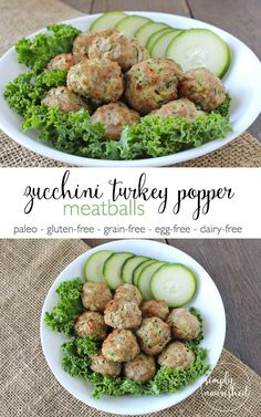 Zucchini Turkey Meatballs -- a freezer-friendly recipe and an easy way to sneak in veggies. http://therealfoodrds.wpengine.com/zucchini-turkey-meatballs-recipes/
