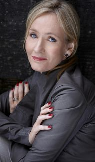 JK Rowling, author of the Harry Potter series. More information here: http://en.wikipedia.org/wiki/J._K._Rowling