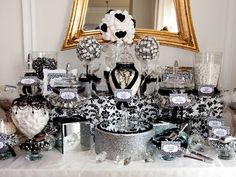 white and gold candy buffet ideas we were commissioned to create a black and