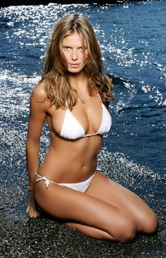 3010e0ae2c Delfina white bikini on Heidi Klum