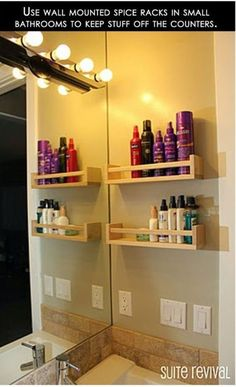 Ikea spice racks for bathroom organization -- brilliant! Ikea spice racks for bathroom organization -- brilliant! Ikea spice racks for bathroom organization -- brilliant! Ikea Spice Rack, Spice Racks, Ikea Rack, Spice Shelf, Rack Shelf, Wall Racks, Spice Rack On Wall, Apartment Decoration, Apartment Ideas