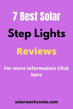 7 Best Solar Step Lights. The steps do not only ad décor to our homes and parks but also protect us from accidents. Wired lights are not suitable for steps and battery lights often stop working after a while. In this condition, solar lights are ideal. Our aim is to make you aware of the best solar step lights so you can install them in your home or any other area. #solarsteplights #solarlights #solarworksnola #steplights #homedecor #ideas Solar Step Lights, Battery Lights, Stop Working, Solar Panels, Outdoor Lighting, Parks, It Works, Homes, Ideas